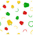 flat seamless pattern of red yellow green sweet vector image
