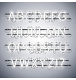 Glowing Neon Silver Alphabet vector image