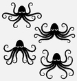 Octopus silhouettes vector image