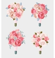 Set of wedding bouquets vector image