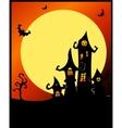 Terrible halloween castle vector image