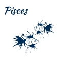 zodiac sign Pisces vector image