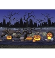 Dark night scary horror halloween background with vector image