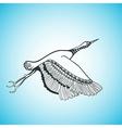 flying bird creative hand drawn card vector image