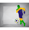 Brazilian football player with ball in triangles3 vector image vector image