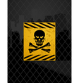 prohibited zone vector image vector image