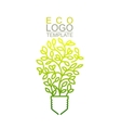 Eco Logo Template vector image