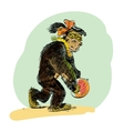 APE female with coconut evolution vector image