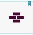 bricks icon simple vector image