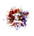 color of a baseball player vector image