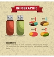 data storage design vector image