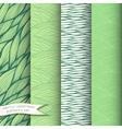 Decorative waves seamless patterns set vector image