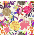 floral s seamless color vector image