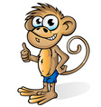 fun monkey cartoon vector image