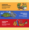 hawaii travel landmarks and famous cukture vector image