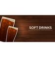 soft drinks bunner fast food restauran menu vector image
