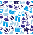 spa and relaxation simple blue seamless pattern vector image