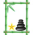 spa zen stones and frame bamboo vector image