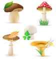 set icons mushrooms vector image