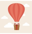 airballoon delivery concept gift box cargo vector image