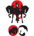 horses symbol vector image