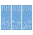 three marine banners vector image vector image