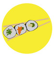 isolated sushi vector image