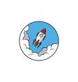 space ship rocket vector image