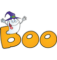 Ghost cartoon vector image