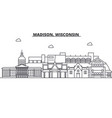 Madison wisconsin architecture line skyline vector image