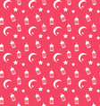 Islamic Seamless Pattern with Arabic Lamps vector image