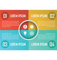 Four steps circle infographics design template vector image