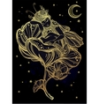 Little sleeping winged fairy vector image