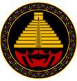 ancient maya pyramid vector image