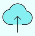 cloud upload line icon minimal 96x96 pictogram vector image