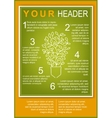Eco Flyer Template vector image