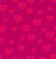 Hearts pink background seamless pattern vector image