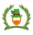 leprechaun beard hat clover have a lucky day vector image