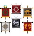 set of fantasy standards vector image