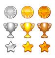 Sport awards set vector image