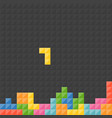 tetris pieces with black background vector image