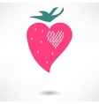 The heart of the character of strawberries vector image