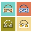 assembly flat icon tape recorder vector image