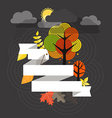 Autumn is coming concept vector image vector image