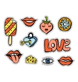 Fashionable patch set vector image