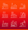 white industry powers line icons on colorful vector image vector image