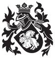heraldic silhouette No25 vector image vector image