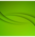 Green Abstract background with curves lines vector image