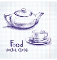 Food sketch vector image