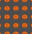 halloween pumpkin pattern background vector image